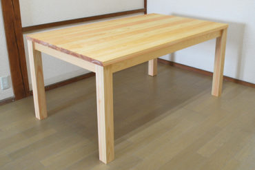 無垢ひのきテーブル天板サイズ150×90 1805006-1