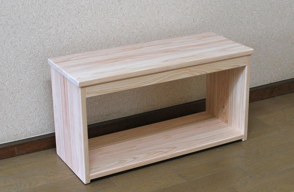 ひのき木製椅子 下収納ありイス