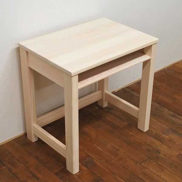 国産無垢ひのき 小さめの机 かご机