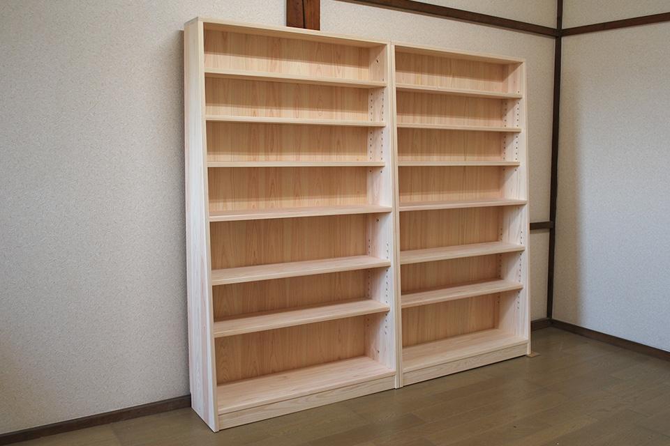 薄型収納大容量の高さ160cmの本棚  1808019