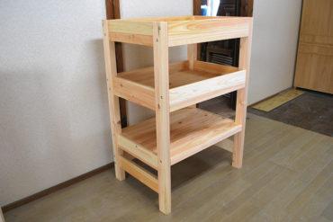 収納棚としても使えますが猫ちゃん用の2段ベッド 1803041-2