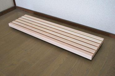頑丈な細長いキャスター付きスノコ 幅110cm 1811001