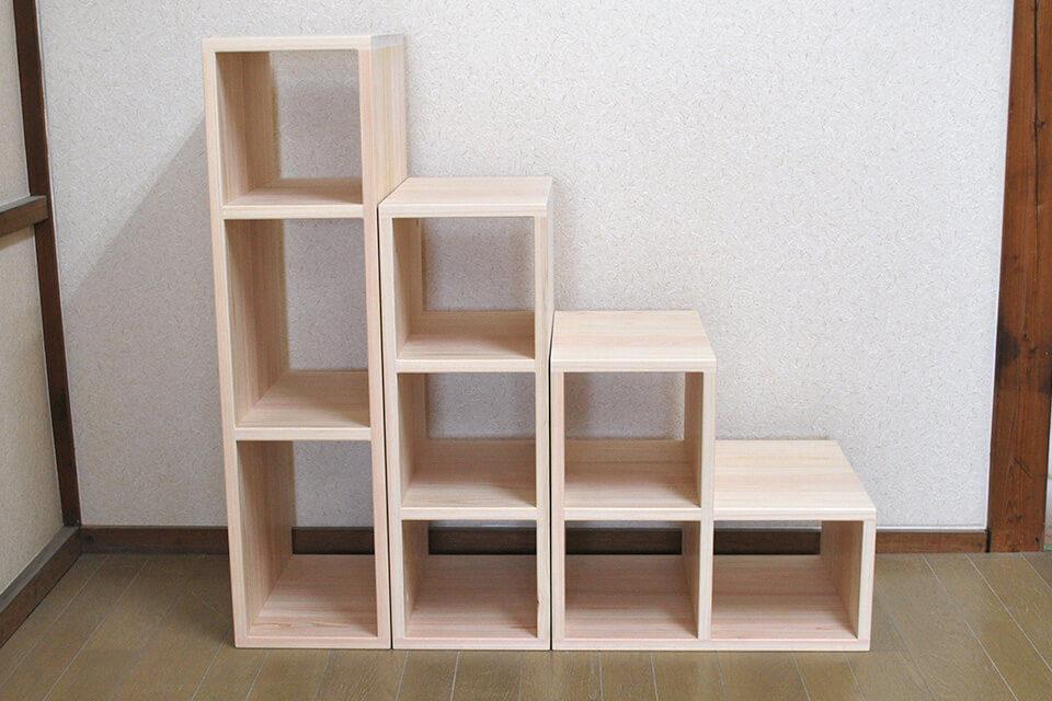 無垢ひのき階段収納オープンボックスタイプ1811025