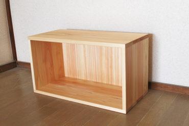 カラーボックス横長収納ボックス 本棚にもテレビ台にも可能 1812002
