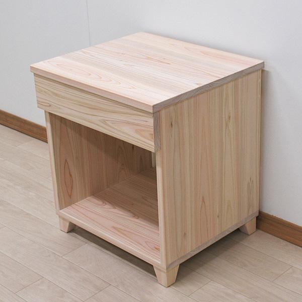 無垢ひのきサイドテーブル