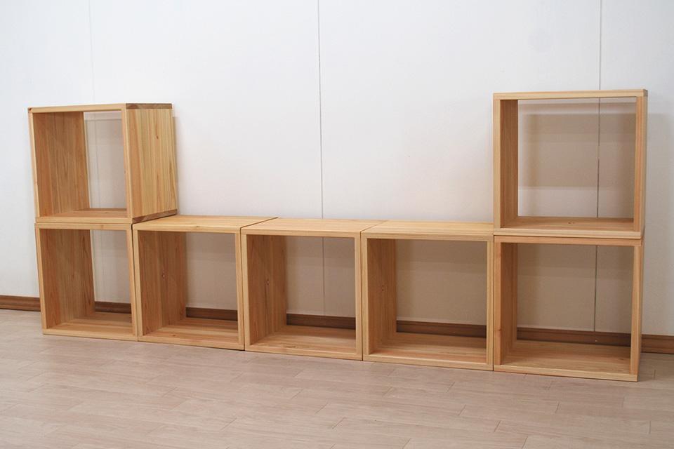 オープンボックス1段の7個組み合わせ 収納ボックス付き 1901011