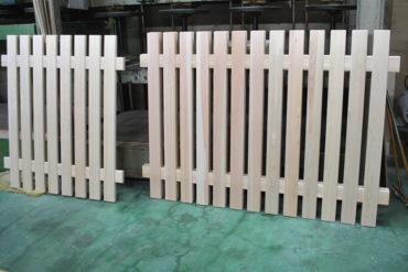 無垢ひのき材のフェンス 垣根柵スクリーン 1901037