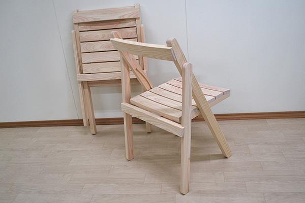 無垢ひのき木製おりたたみ椅子