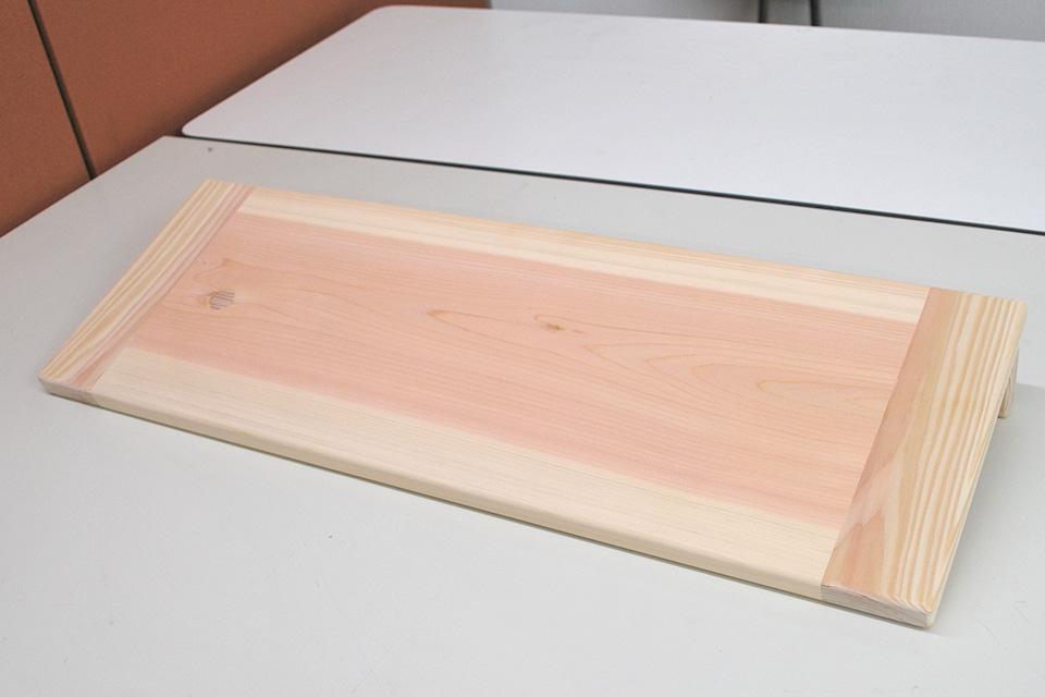 無垢ひのき傾斜台 キーボードタブレット傾斜台