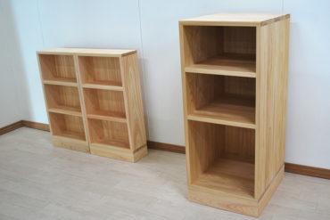 ひのき文庫棚と台所用収納棚 すきま家具として設置場所サイズに製作 1905034