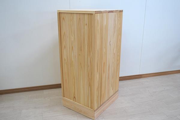 台所用収納棚 すきま家具 背面