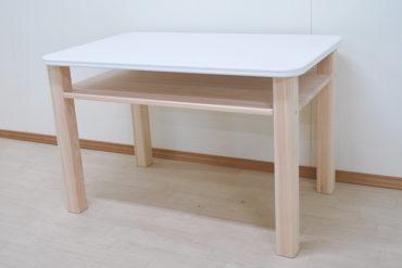 天板化粧板の白いオーダーテーブル110×70cm 1906025
