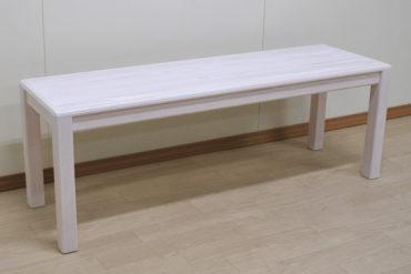 白塗装仕上げの ダイニングテーブルのベンチ椅子 1908040