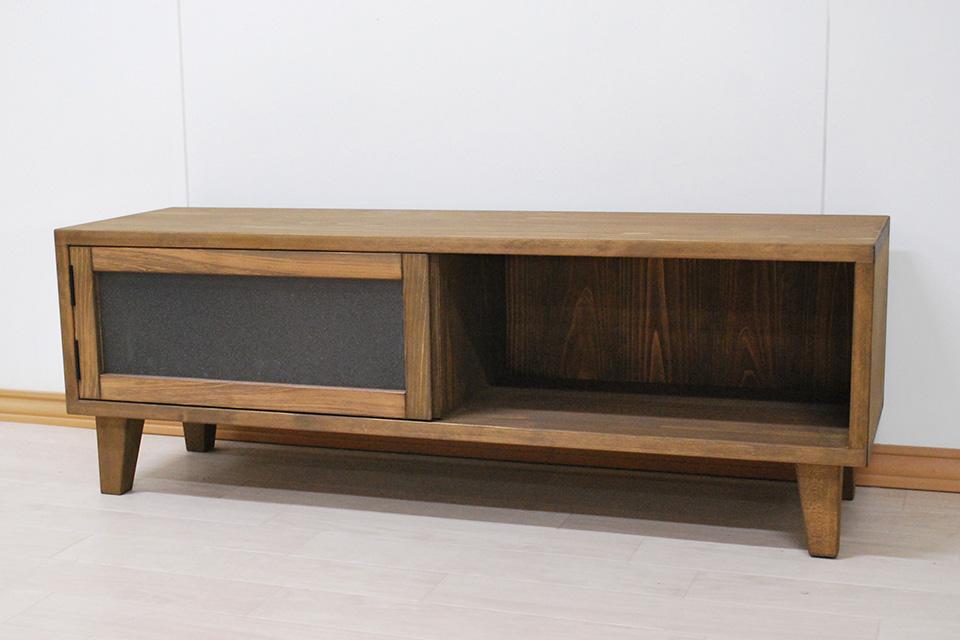 幅100cmの小ぶりのひのきオーダーテレビ台 1908021-2