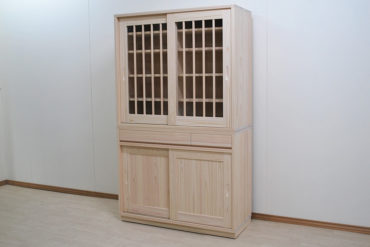 無垢ひのき食器棚 臭いに敏感な人にお勧め 1910023