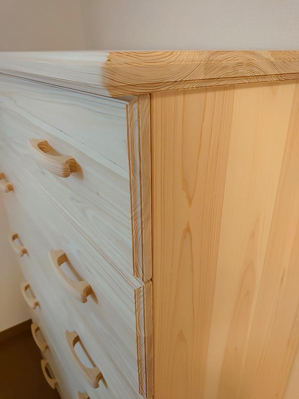 飾り面仕上げのひのきオーダーチェスト6段 整理タンス1911027