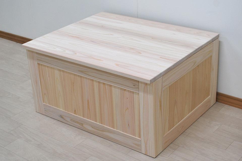 座れる収納ボックス箱イス たっぷり収納幅75cm奥行60cm 1911034
