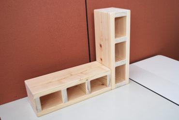 ひのきブロック サイズ違いの仕様違い 12cmかさ上げしたい 2001022