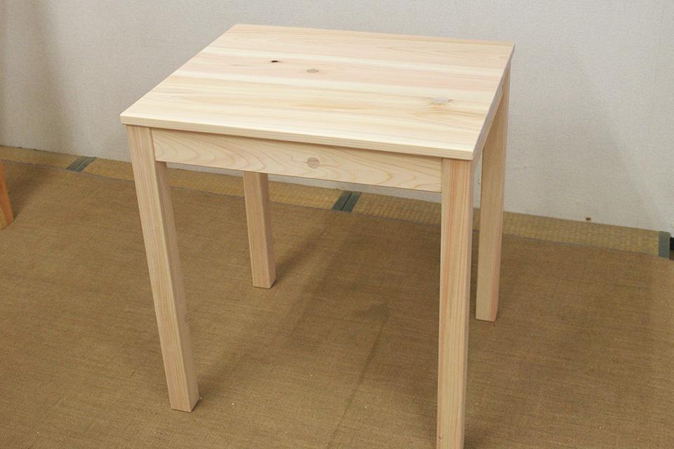 ひのきサイドテーブル 子供テーブル1308022
