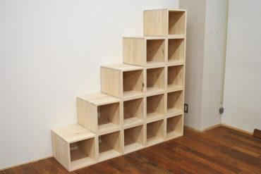 登れる階段家具5段 高さ150cm 個々のボックスタイプ 1703017