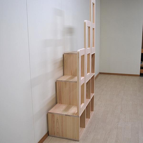 手すりひのき階段家具 お子様の登りも降りも安心 2001004