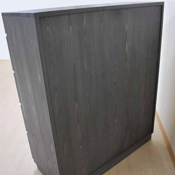 グレー着色仕上げのチェスト(整理タンス)幅100cm 2001039