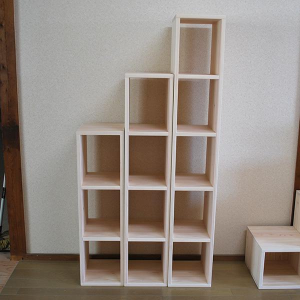 ひのき階段家具3段から5段飾り棚2004032