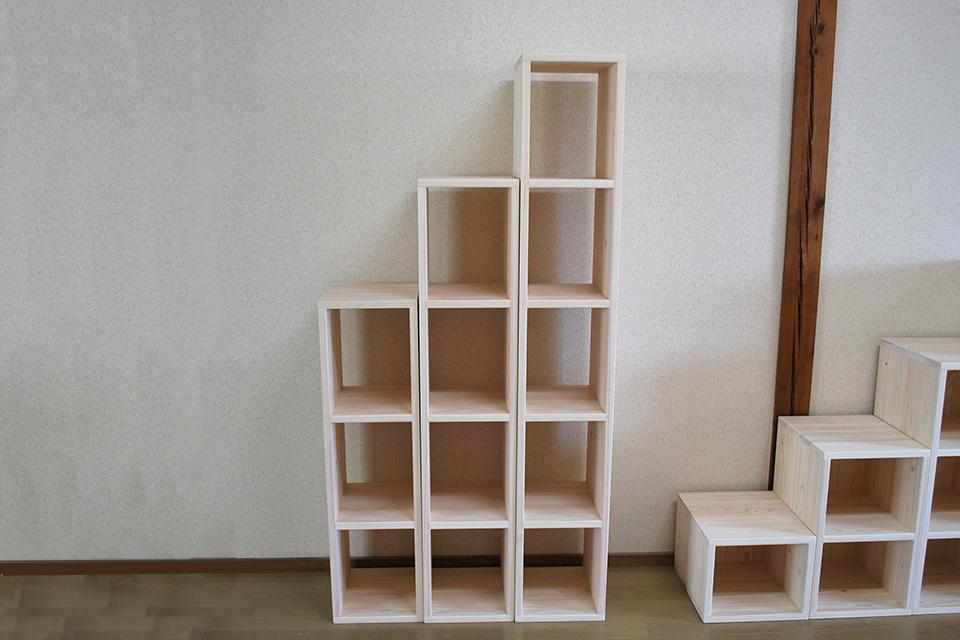 ひのき階段家具3段から5段飾り棚 2004032