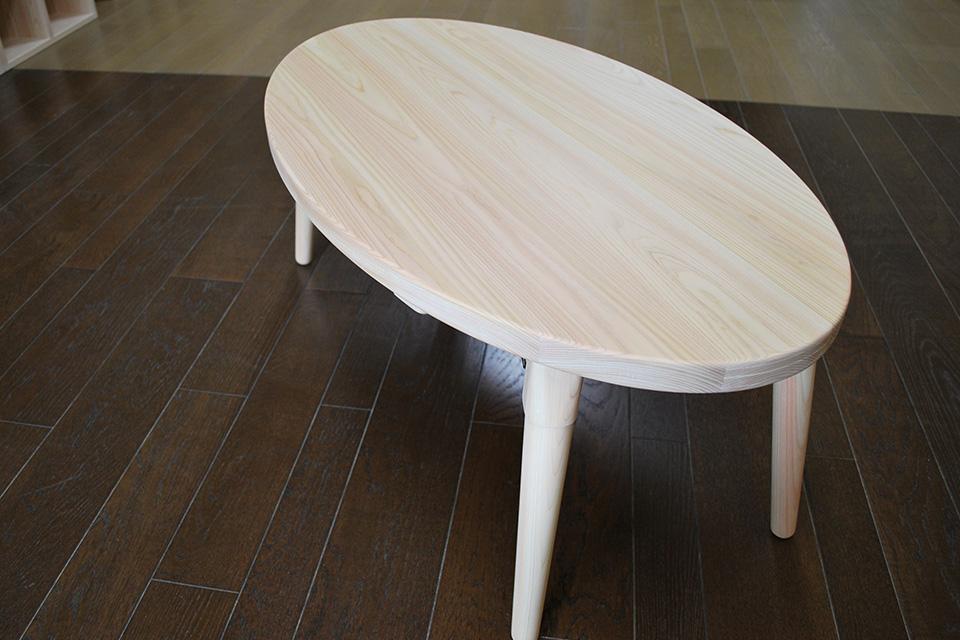 リビングテーブルおしゃれな楕円のローテーブル NO1912024
