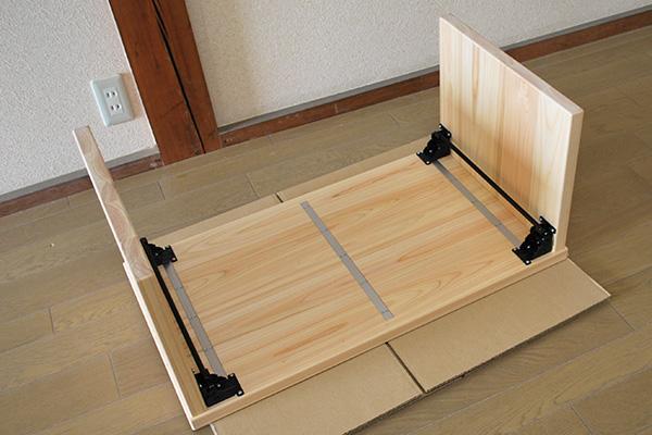 家事や在宅ワークにひのき折りたたみテーブル 文机 NO2006027