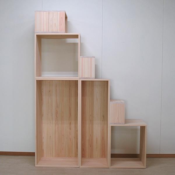高さ210cmのオーダー階段 6種類の箱の組み合わせ NO2006025