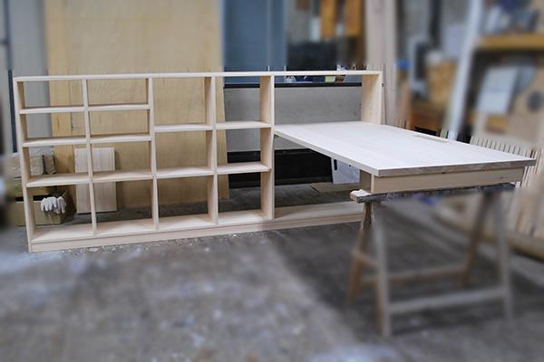 壁面棚とデスク天板 取り付けはお客様にて 2010043
