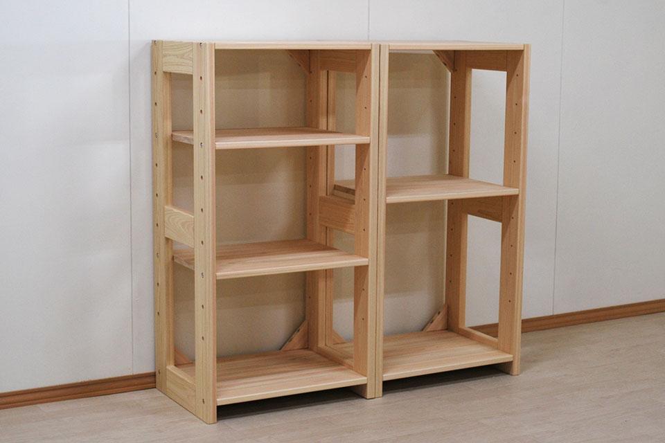 隙間埋めサイズに製作可能 収納ラック 幅60cm高さ117.5×2