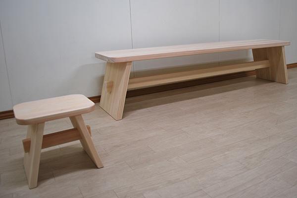 テーブルのようなシンプルなテレビ台幅170cm高さ40cmとイス 2010061