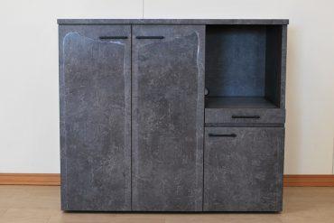 化粧板仕上げの家電ラック 調味料入れにキッチンラック2009047
