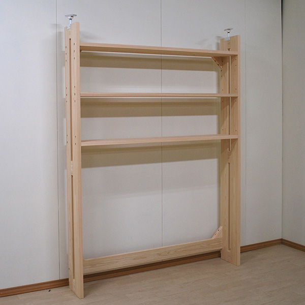 電子ピアノの上に奥行24cm天井までの収納棚を 内寸140cm 2011057