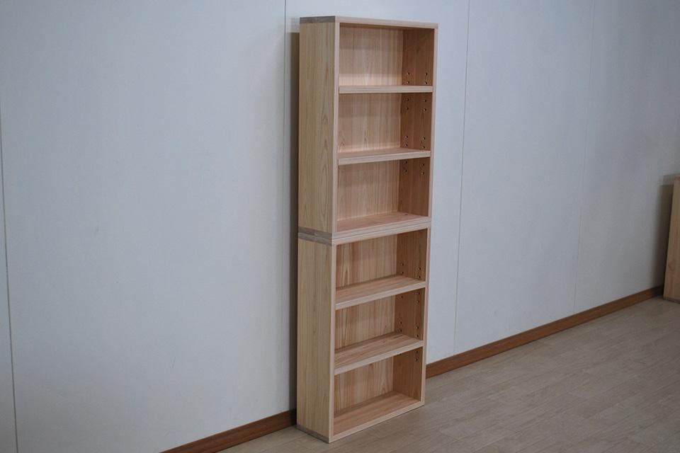 コミック棚のオーダー仕様幅48cm棚板 可動式に2台重ね 2012006