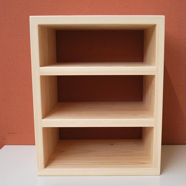 小ぶりな ひのき3段ボックス 幅32cm高さ40cm NO2101014