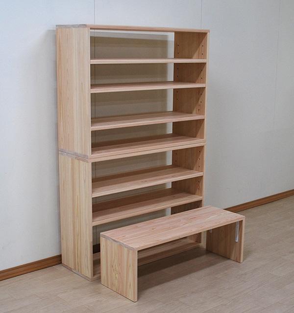 おもちゃを収納する棚 オープン棚 小さなテーブル付き 2101023