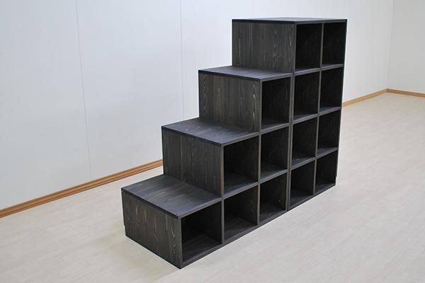 ひのき階段4段4段目を広い 階段幅50cm 2101027