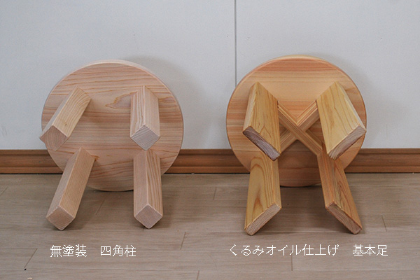 ひのき子供丸椅子 ヒノキ・ワークス