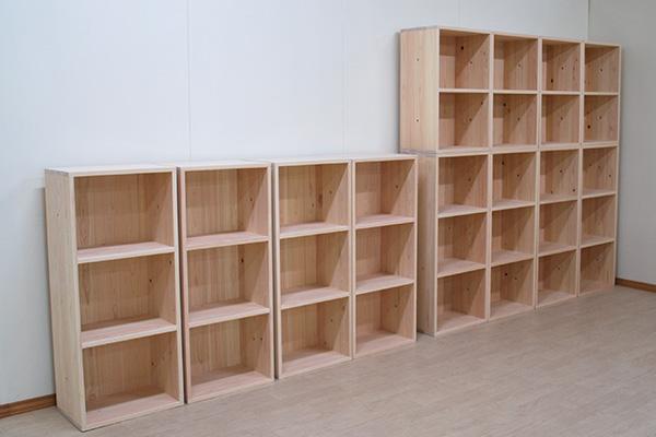 カラーボックス複数台購入 3段8台 2段4台 壁面家具ですね2103042
