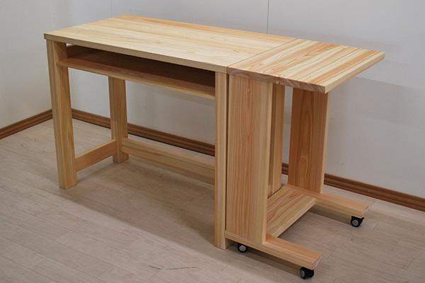 ひのき机とサイドテーブル2104026