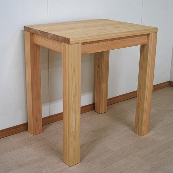 お一人様用、無垢ひのきテーブル  幅65cm奥行50cm天板厚み3cm2107036